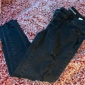 Distressed Maurices Skinny Jeans